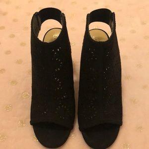 LC Lauren Conrad Shoes - LC Lauren Conrad Peep Toe Laser Cut Booties 👢